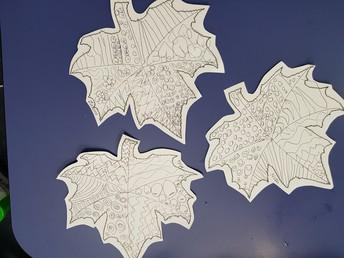 Rm 2 Leaf artwork - Zakira Te Anini, Noah Jones and Mila Donaldson