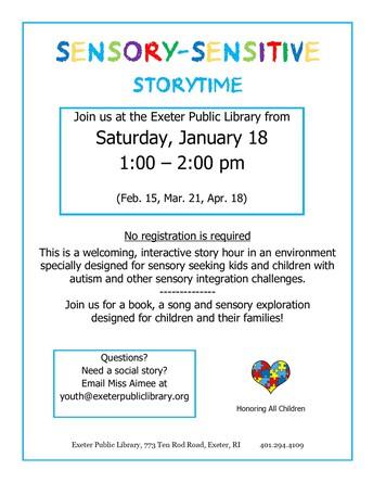 Sensory Sensitive Storytime