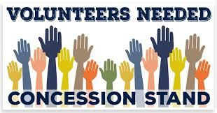Concession Volunteers Needed!