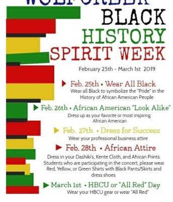 Black History Spirit Week
