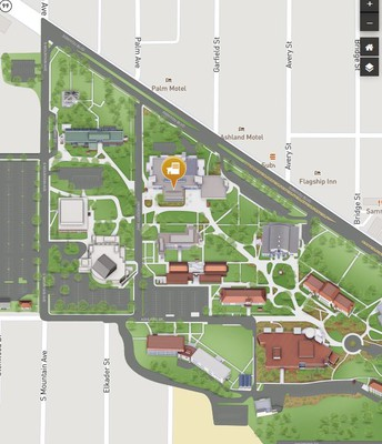 Map of Rogue River Room at SOU