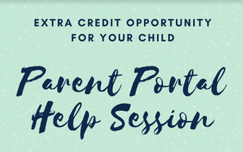 Extra Credit Opportunity and Parent Portal Help for 8th Grade Parents