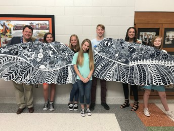 National Junior Art Society creates new mural!