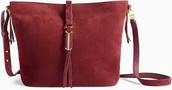 The Covet Sunday Bag - Burgundy Suede