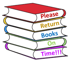 ALL LIBRARY BOOKS ARE DUE MAY 21ST