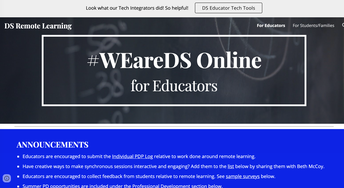 #WEareDS Online for Educators