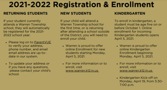 Enrolling New Students for 2021-22