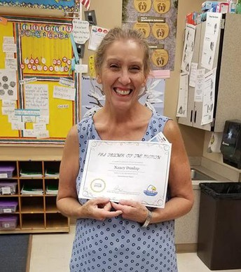 Teacher of the Month - Mrs. Dunlap