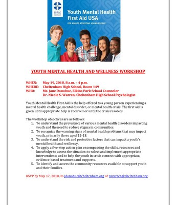 Youth Mental Health and Wealth Workshop