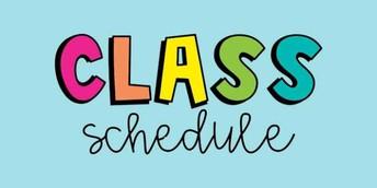 New Instructional Schedules begin Monday