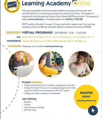 Learning Academy Virtual Programs