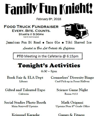 Family Fun Knight is Thursday, February 8th!