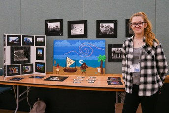 a student from another PCS school with her Innovative Showcase project