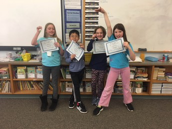 4th grade Perfect Attendance Awards for February 2018