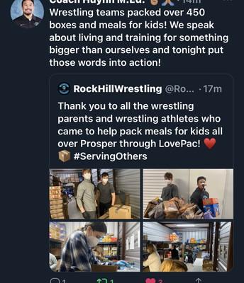 RHHS Wrestling Volunteering
