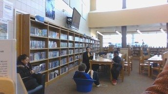 Library visit. We love to read.