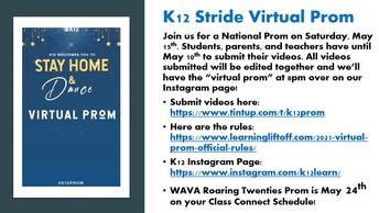 Prom is here!  K12/Stride Virtual Prom Celebration