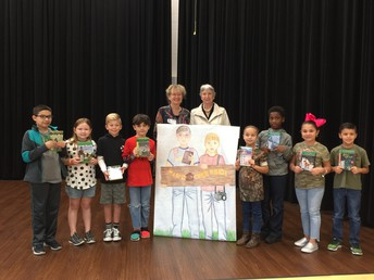 Authors Pose With Students Click on pictures for better viewing.