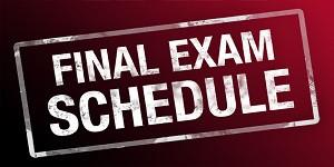 Finals Week Schedule January 27 - 31, 2020