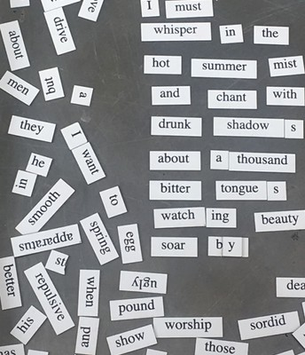 Magnetic Poetry/National Poetry Month
