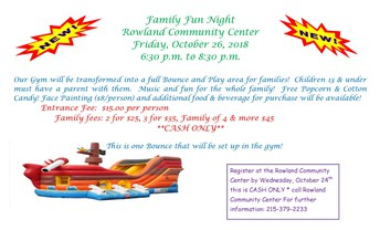 Family Fun Night @ Rowland Community Center