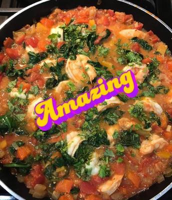 Moroccan Spiced Shrimp (recipe by Barbara Buckley)