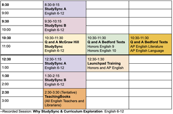 Secondary English SESSIONS BEING FORMED FOR OCTOBER 16TH PD DAY