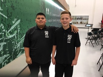 Luciano Garcia and Josh Grover Ready For Band Concert