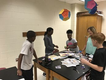 Students having fun learning with Mrs. Bailey!