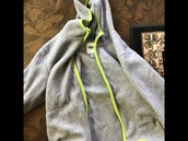 Old Navy grey fleece with neon trim size 6-7