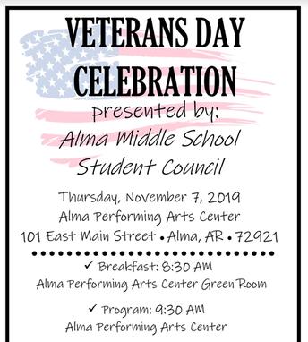 AMS StuCo Veteran's Day Program: