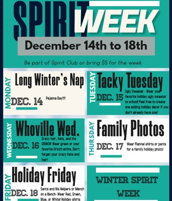 SPIRIT WEEK DAYS