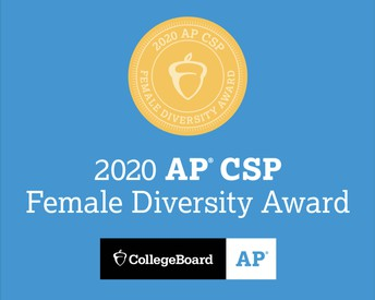 Scituate High Receives AP Computer Science Female Diversity Award!