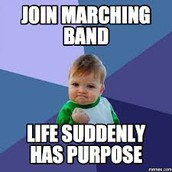 MARCHING BAND MEETING AT OPEN HOUSE FROM 6:00 TO 6:30 PM