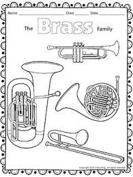 Brass Family coloring sheet