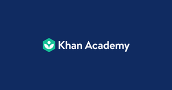 Image shows Khan Academy logo next to text that says Khan Academy