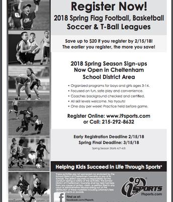 I9 Spring Sports Registration