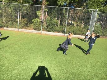 Running on the big field