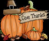 Thanksgiving Break ~ No School
