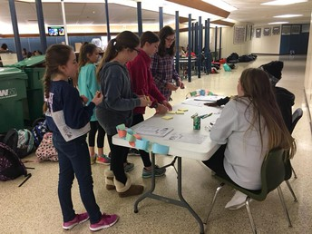 Students Writing their Words of Kindness
