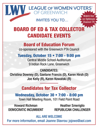 Board of Education Candidate Forum flyer