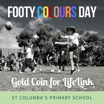 Footy Colours Dress next Friday - Gold Coin Donation for LifeLink