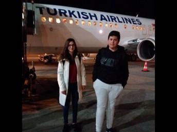 Chegada ao aeroporto de Kayseri