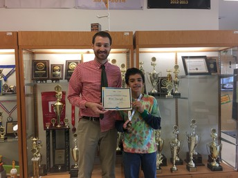 OSS 7th Grader Advances to State Geography Bee Finals