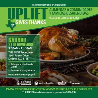 ¡Uplift da las gracias!