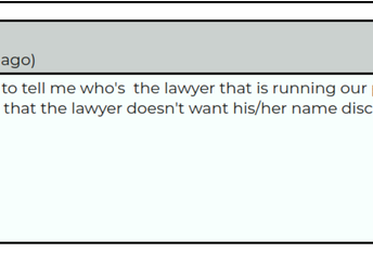 I have been trying for 2 days for somebody to tell me who's  the lawyer that is running our park. i was told by the only other board member that the lawyer doesn't want his/her name disclosed.