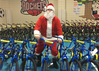 Hundreds of Alief ISD elementary school students were selected to receive free bikes from CYCLE Houston.