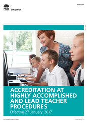 Accreditation of Teachers at Highly Accomplished and Lead Teacher