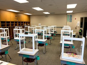 Classrooms add shields for added protection