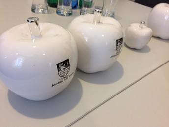 A maçã, simbolo desta vila.
